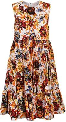 MSGM Floral Empire Line Dress