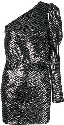Alexandre Vauthier zebra embossed mini dress