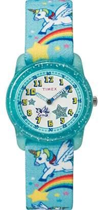 Timex Girls TW7C25600 Time Machines Elastic Fabric Strap Watch