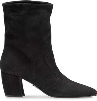 Prada pointed toe ankle booties