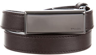 prada Prada Skinny Leather Belt
