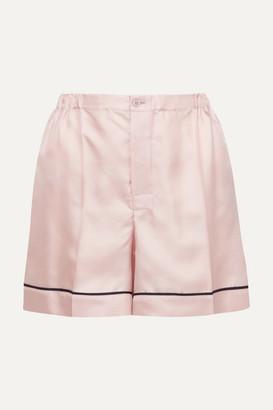 Prada Silk-twill Shorts