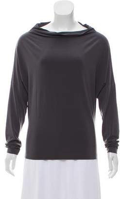 Norma Kamali Bateau Neck Long Sleeve Top w/ Tags