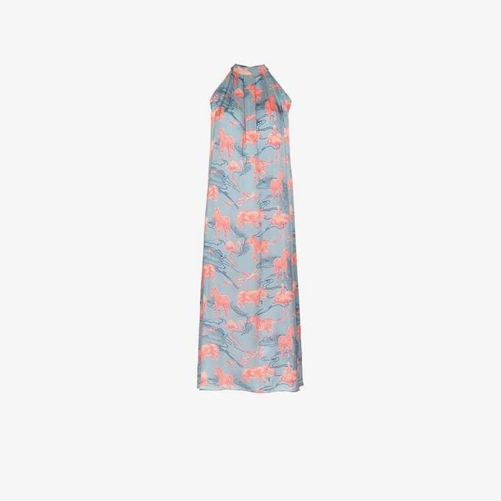 Chufy silk maxi dress
