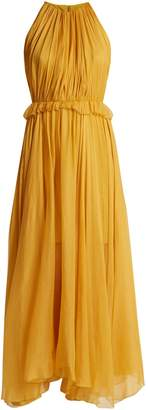 Maria Lucia Hohan Kamille halterneck silk dress