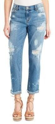 Jessica Simpson Distressed Tapered Jeans