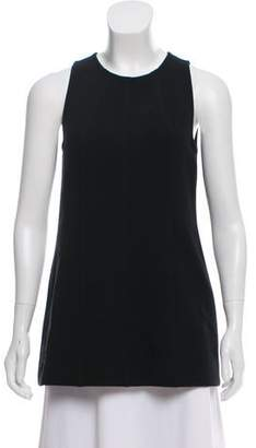 Lela Rose Sleeveless Scoop Neck Top