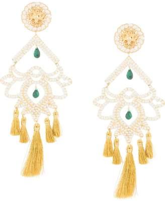 Mercedes Salazar Paramo Nieve fringe drop earrings