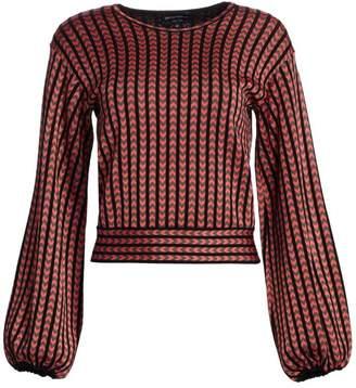 Emporio Armani Jacquard Full Sleeve Cropped Sweater