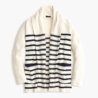 J.Crew Long open cardigan sweater in stripe