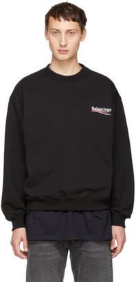 Balenciaga Black Campaign Logo Sweatshirt