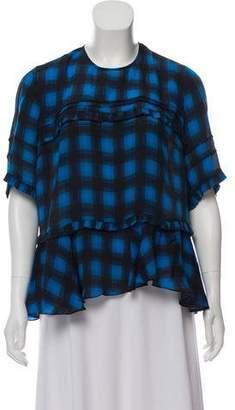 Preen Line Plaid Short Sleeve Top
