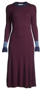 BOSS Fussa Colorblock Rib-Knit Dress