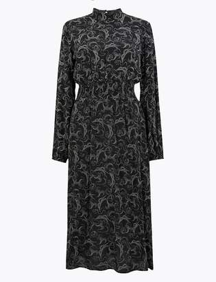 Marks and Spencer Swirl Waisted Midi Dress