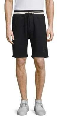 The Kooples Striped Waistband Logo Shorts