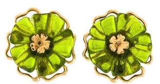 Kenzo Resin Clip-On Earrings