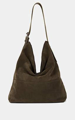 Barneys New York Women's Suede Hobo Bag - Musk Olive