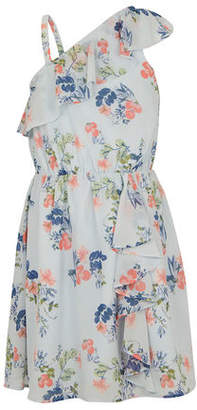 BCBGMAXAZRIA Floral One-Shoulder Ruffle Dress - Toddler