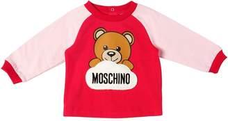 Moschino Cotton Interlock T-Shirt W/ Patch
