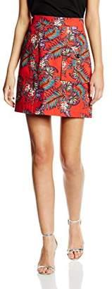 House of Holland Women's Cotton Poplin Patch Pocket Skirt