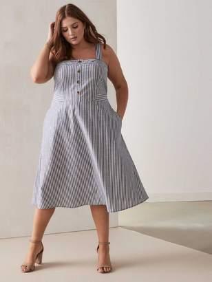 RACHEL Rachel Roy Rylnne - Striped Cotton Dress