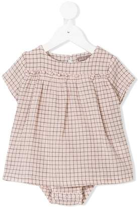 Emile et Ida grid pattern shift dress