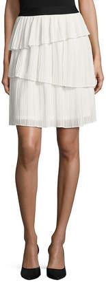 WORTHINGTON Worthington Floral Woven Pleated Skirt Talls