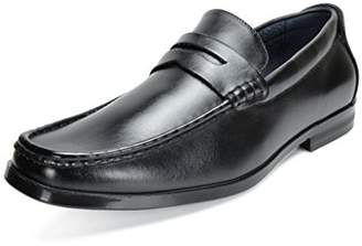 Andrew Marc BRUNO Bruno Marc Moda Italy HARRY-02 Men's Dress Classic Leather Lining Slip On Casual Penny Loafers Shoes Black Size 9.5