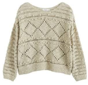 MANGO Knit linen sweater