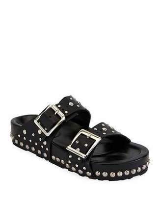 Alexander McQueen Studded Leather Slide Sandal