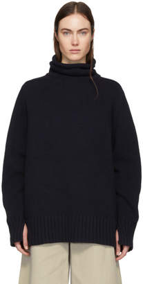 Joseph Navy Oversized Sloppy Joe Turtleneck