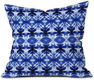 Deny Designs Wagner Campelo Shibori Tribal Indigo Throw Pillow