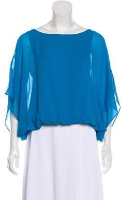 Alice + Olivia Silk Kimono Sleeve Blouse