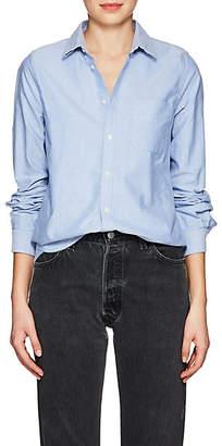 VIS Ā VIS Women's Cotton Oxford Cloth Button-Down Shirt - Lt. Blue