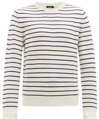 A.P.C. Gaspard Breton Stripe Merino Sweater - Mens - Cream