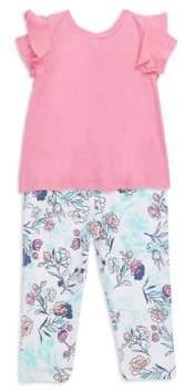 Splendid Baby's, Toddler's, Little Girl's& GIrl's Top and Floral Legging Set