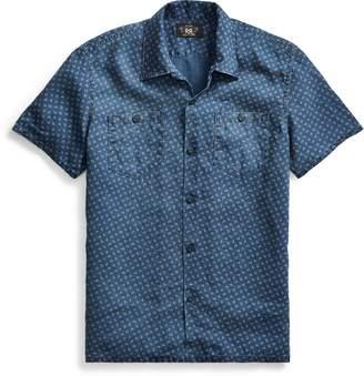 Ralph Lauren Anchor-Print Linen Camp Shirt