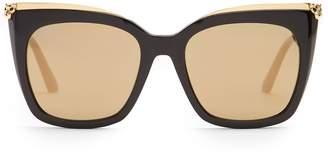 CARTIER EYEWEAR Panthère de Cartier acetate sunglasses