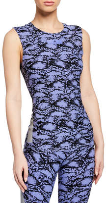 adidas by Stella McCartney Alphaskin Scoop-Neck Printed Active Tank