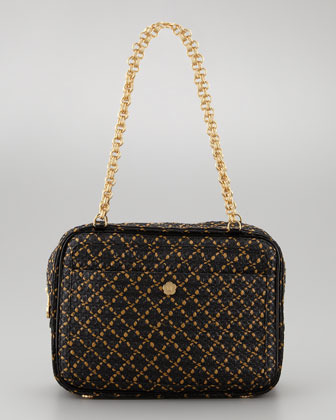 Eric Javits Carla Squishee Shoulder Bag, Black/Multi