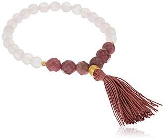 Satya Jewelry Mala Bracelets Rose Quartz Charm Bracelet