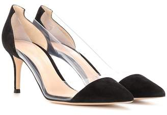 Gianvito Rossi Plexi suede and transparent pumps