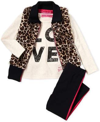 Betsey Johnson Toddler Girls) Leopard Print Vest, Tee & Legging Set
