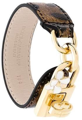 Dolce & Gabbana leopard print lock bracelet