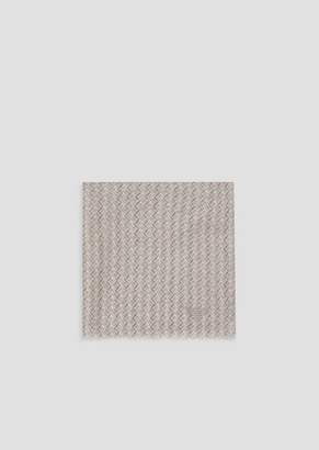 Emporio Armani Foulard In Geometric Patterned Fabric