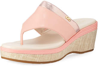 Cole Haan Cecily Grand Thong II Wedge Sandals, Coral