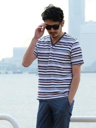 Men's Bigi (メンズ ビギ) - MEN'S BIGI ロープボーダー 半袖Tシャツ メンズ ビギ カットソー