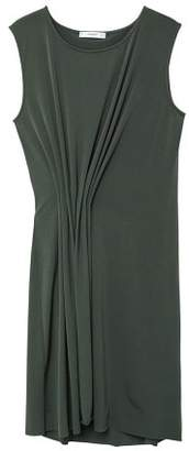 MANGO Pleated detail dress