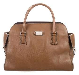 Michael Kors Leather Gia Satchel - BROWN - STYLE