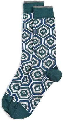 Ted Baker Hexagonal Pattern Socks